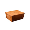 Hotpack | 32 oz KRAFT PE TAKEAWAY BOX 142 x 111 x 64 MM | 200 Pieces
