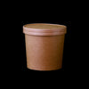 Hotpack | 26oz Kraft Paper Soup Cup With Lid 250 Pcs | 250 Pieces