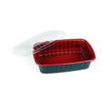 Hotpack | 750 ml RED AND BLACK BASE CONTAINER WITH CLEAR LID | 300 Pieces