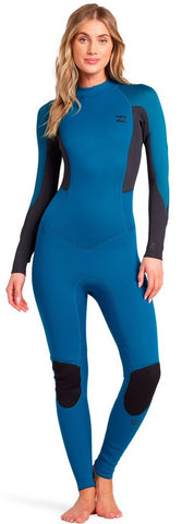 Billabong Women's 5/4 Launch Full BZ GBS Wetsuit- Pacific - O45G18 - Size EUR 4