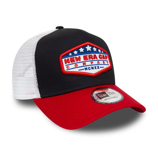 New Era -USA Star Patch Black Contrast 9Forty A Frame - Trucker - 12380943