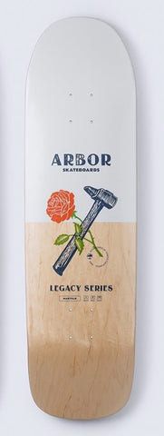"Arbor - Legacy Martillo - Skateboard deck cruiser 19 White/Natural 8.875"" - ARB-SKD-0079"