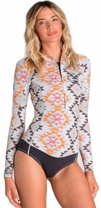 Billabong Women's Surf Capsule long sleeve peeky jacket- Multi - X42G01- UK8