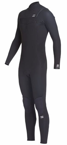 Billabong - Furnace Absolute 5/4mm kids  -  Chest Zip Wetsuit GBS Steamer - Black - Q45B04