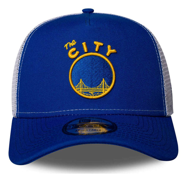 New Era  - NBA Golden State Warriors - 9Forty Cap - Adjustable Trucker - Blue - 70593012