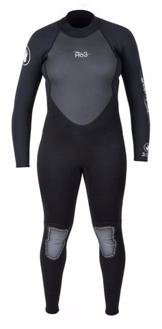 Body Glove Pro 3 Women's 3/2 Full Wetsuit Back Zip- Black -BGV-WFS-00