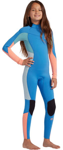 Billabong Teen 3/2 Synergy Full BZ FL Wetsuit - Maui Blue - W43B61 - Size 16 Youth