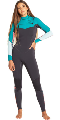 Billabong Women's 3/2 Full LS Wetsuit- Salty Dayz- Palm Green - Q45G75 - UK10