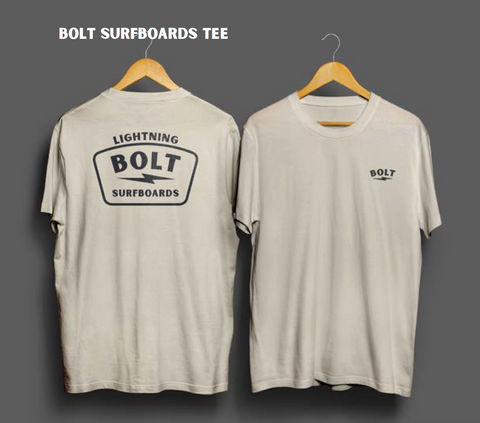 Lightning Bolt - Bolt Surfboards tee SS T-Shirt - Fog - 19AMATSTC02W10000S