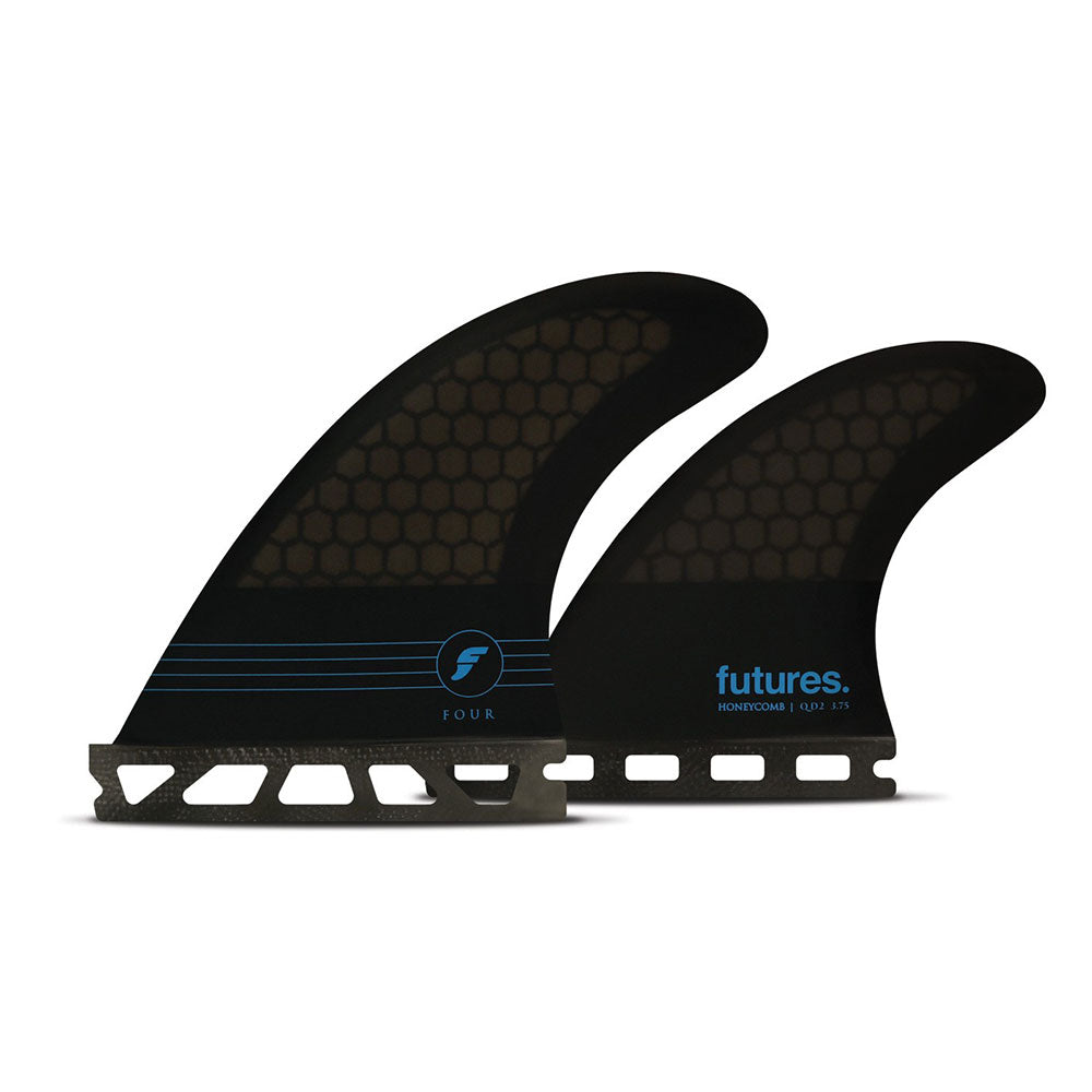 Futures - F4 Quad Honeycomb S - Quad Fins - Black Blue - FHCF4Q