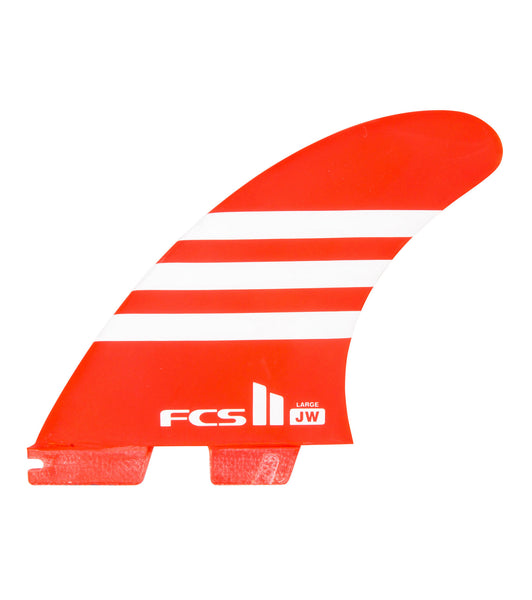FCS II - Julian Wilson JW PC Thruster set Red/White - FJWL-PC02-LG-TS-R - Size Large