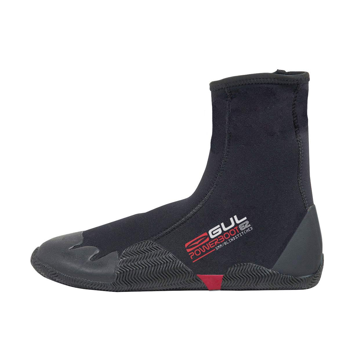 Gul - 2018 - Power Boot - 5mm - Men's Round Toe Zipped Wetsuit Boot - B01306-B2BKBK