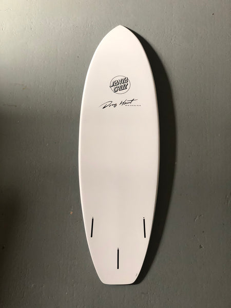 Santa Cruz -  Razor Back 5'8 Surfboard - White