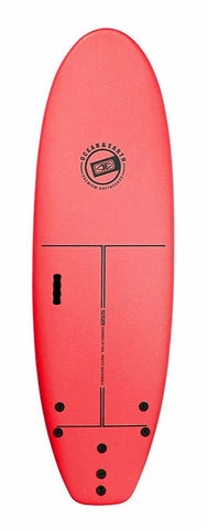 Ocean & Earth 6'0 School Softboard - Red