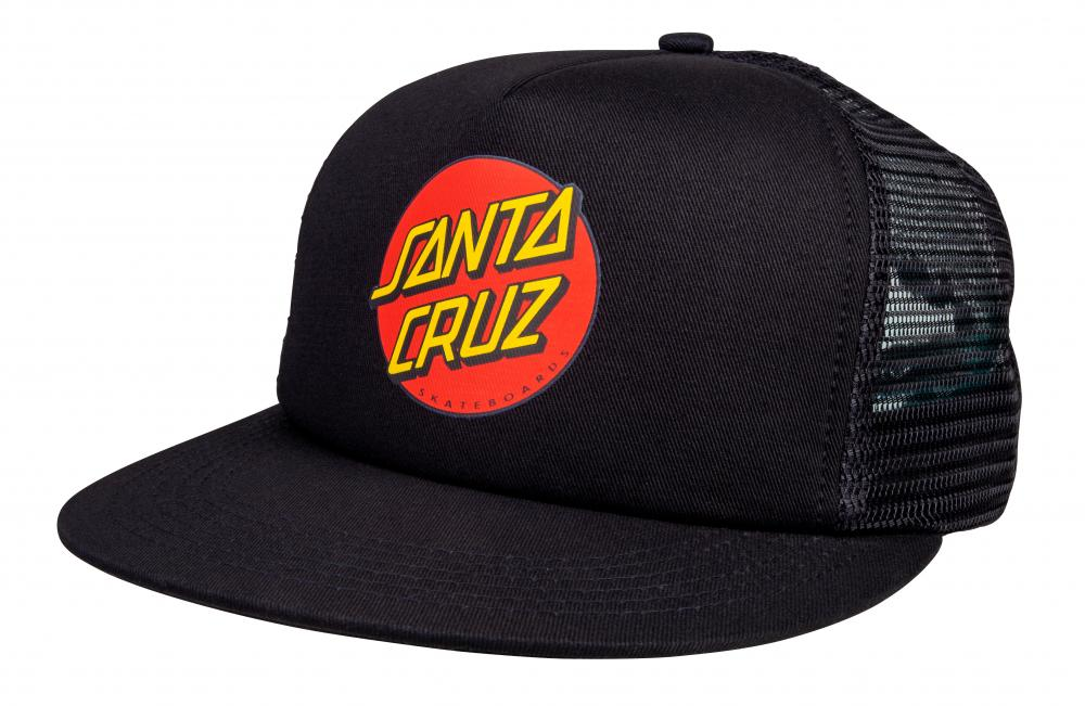 Santa Cruz Classic Dot Mesh Snapback Cap/ Hat Adult - Fit all - Black/Black - SCA-CAP-0227
