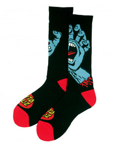 Santa Cruz - 2018 - Screaming Hand - Socks - Black - SCA-SCK-0107