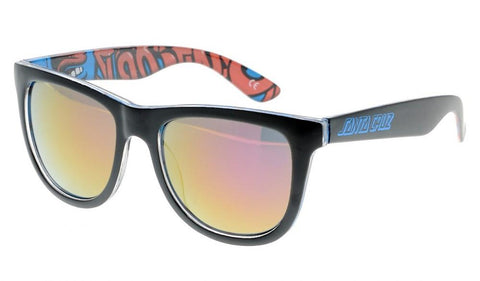 Santa Cruz Adult Sunglasses - Screaming Insider - Black/Blue - SCA-SUN-0106