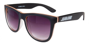 Santa Cruz Adult Sunglasses - Bench - Black/Orange - SCA-SUN-0155