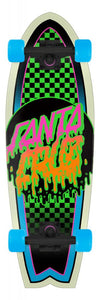 Santa Cruz skateboard complete Rad Dot Shark Green 27.7""