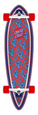 "Santa Cruz - Hands All Over Cruiser Pintail - Complete Skateboard 33"" -SCR-COM-0289"