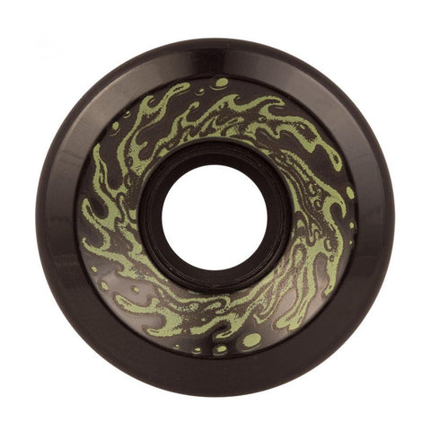 Santa Cruz - Slime Balls Skateboard Wheels (pack of 4) - OG 78A Black Glow 60 mm - SLM-SKW-0042