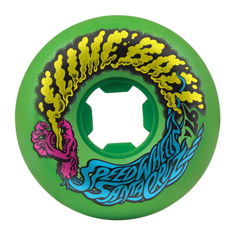 Santa Cruz - Slime Balls Skateboard Wheels (pack of 4) - Vomits Mini 97A Neon Green 56mm - SLM-SKW-0043