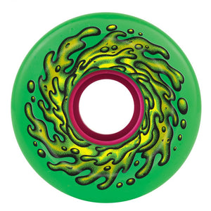 Santa Cruz - Slime Balls Skateboard Wheels (pack of 4) - OG 78A Slime Green 66 mm - SLM-SKW-0045
