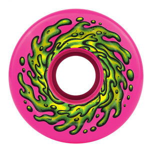 Santa Cruz - Slime Balls Skateboard Wheels (pack of 4) - OG 78A Slime Pink 66 mm - SLM-SKW-0047
