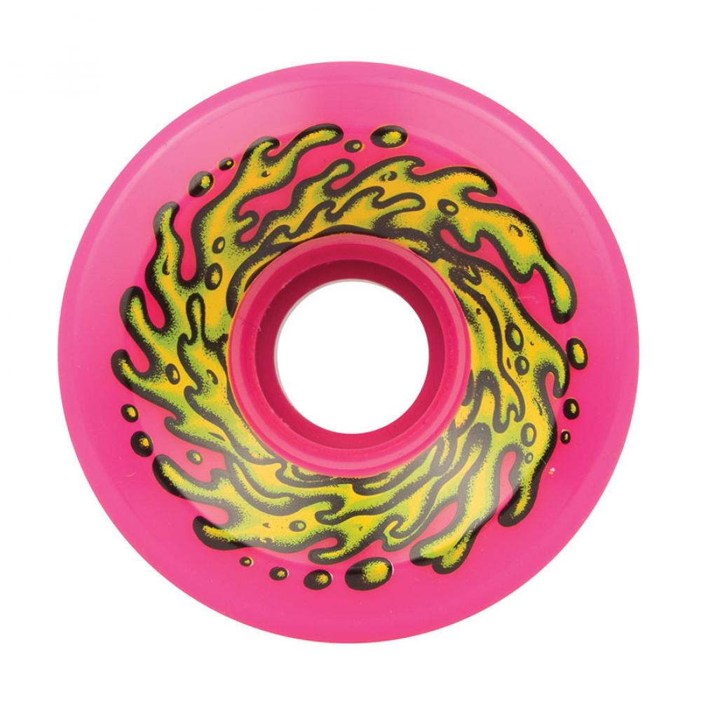 Santa Cruz - Slime Balls Skateboard Wheels (pack of 4) - OG 78A Pink 60 mm - SLM-SKW-0048