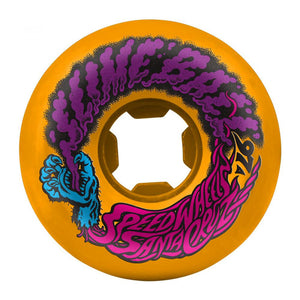 Santa Cruz - Slime Balls Skateboard Wheels (pack of 4) - Vomit Mini 97A Neon Orange 56mm - SLM-SKW-0049