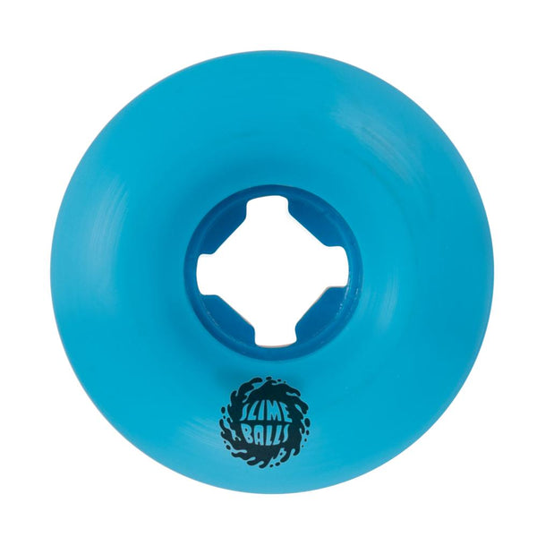 Santa Cruz - Slime Balls Skateboard Wheels (pack of 4) - Vomit Mini 97A Blue 53mm - SLM-SKW-0051