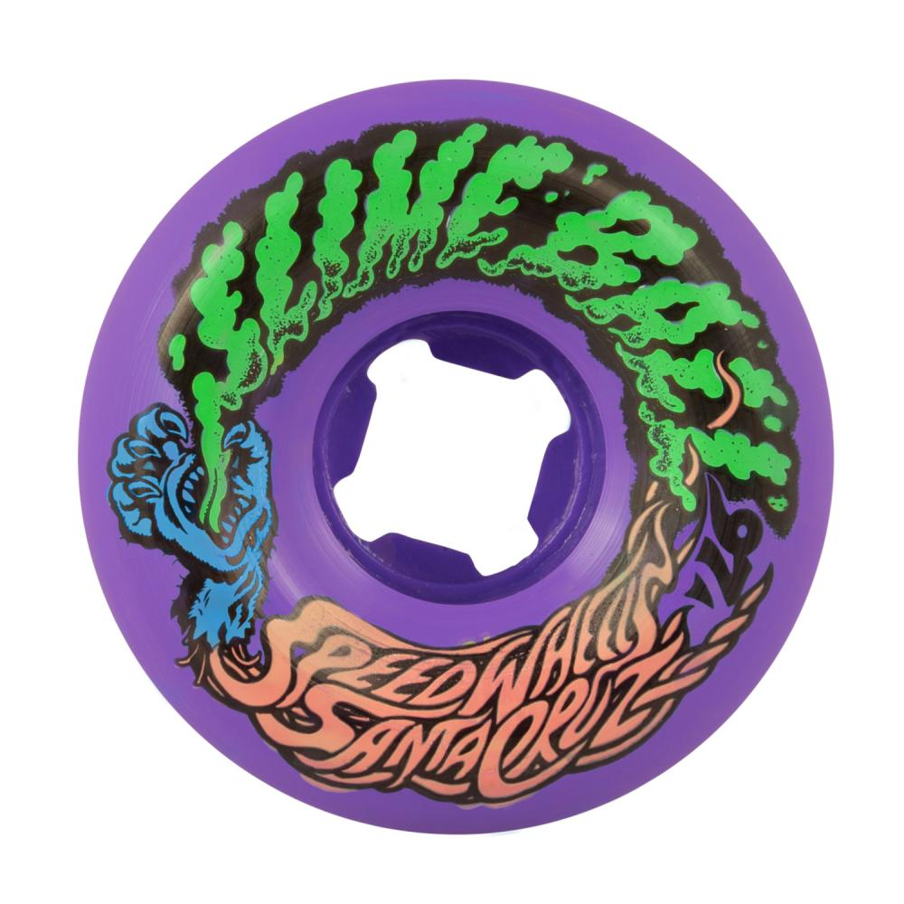 Santa Cruz - Slime Balls Skateboard Wheels (pack of 4) - Vomit Mini 97A Purple 53mm - SLM-SKW-0052