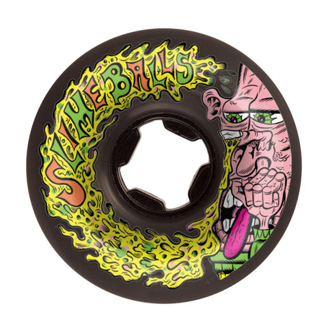 Santa Cruz - Slime Balls Skateboard Wheels (pack of 4) - Snotwheel Vomit Mini 97A Black 56mm - SLM-SKW-0053