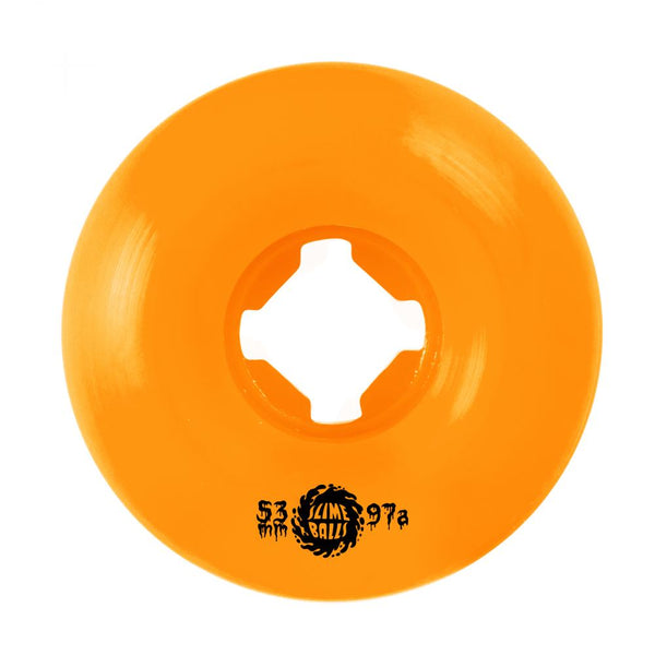 Santa Cruz - Slime Balls Skateboard Wheels (pack of 4) - Munchers Vomit 97A Neon Orange 53mm - SLM-SKW-0055