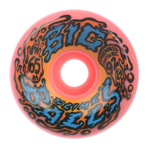 Santa Cruz - Big Balls Speedwheels Skateboard Wheels (pack of 4) - Reissue 92a Pink - 22222709