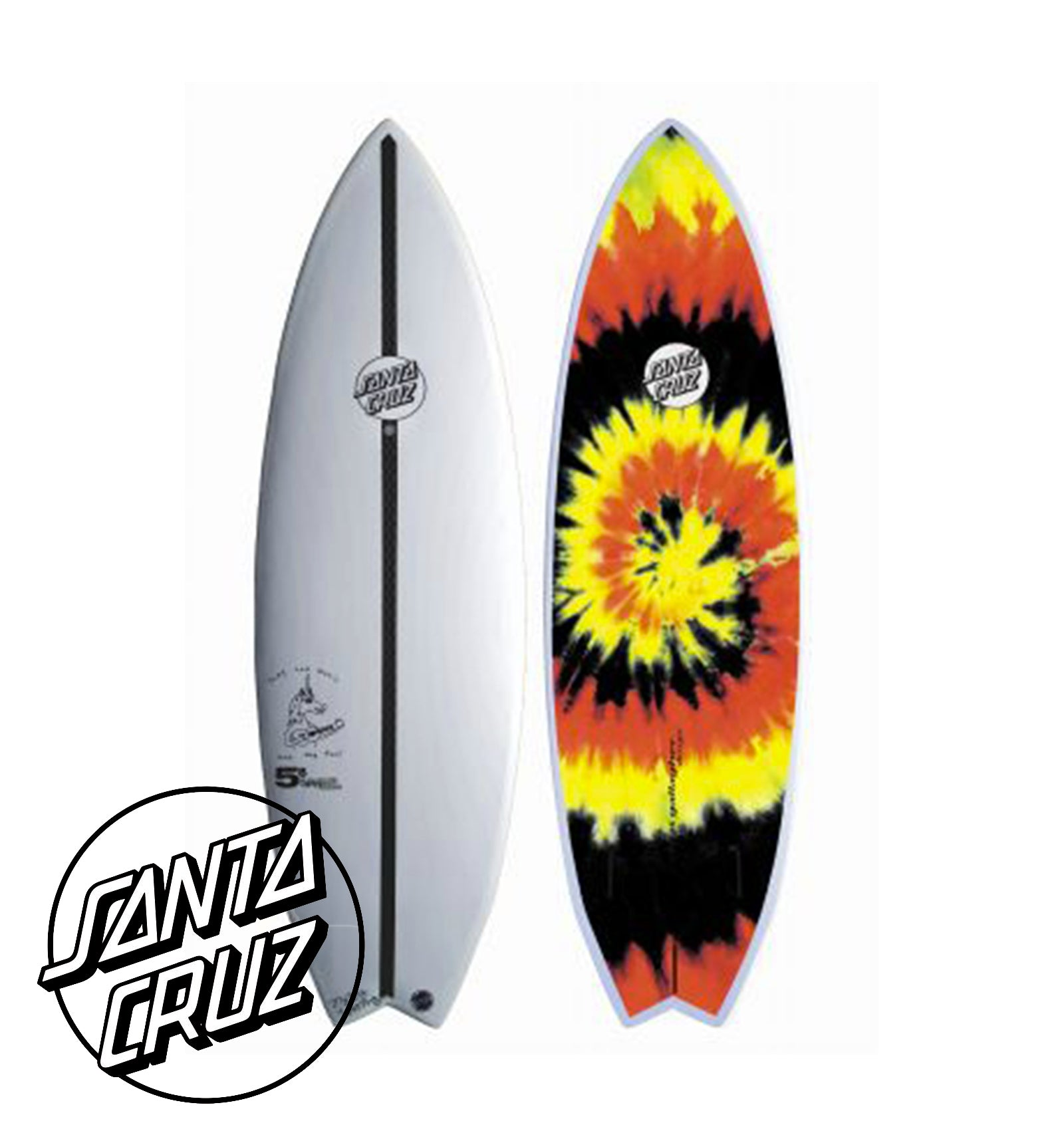2017 Santa Cruz surfboards - Ozzie Wright Wing Swallow 5'8 - Tie Dye