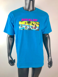 THRILLA KREW - SURF ALL DAY TEE TURQUOISE