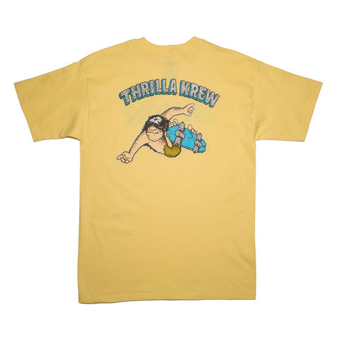 Thrilla Krew - Primal Pete Checker Tee shirt - Banana