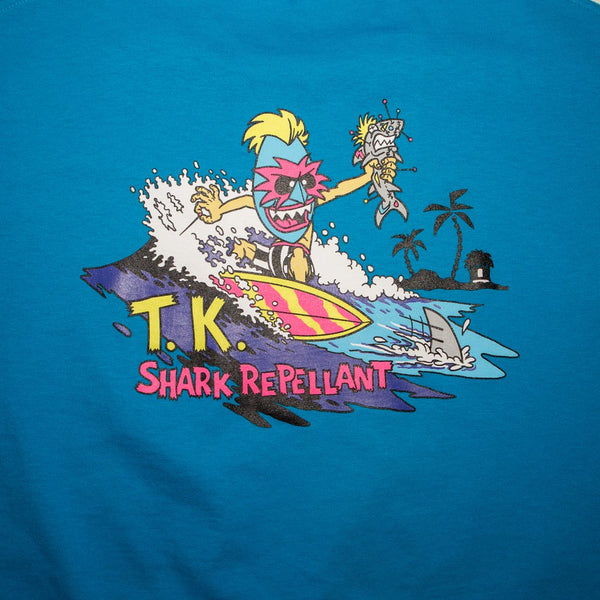 THRILLA KREW - SHARK REPELLENT TEE TURQUOISE