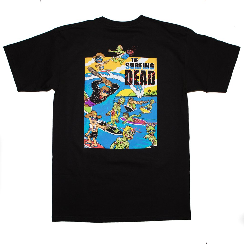 THRILLA KREW - THE SURFING DEAD TEE BLACK