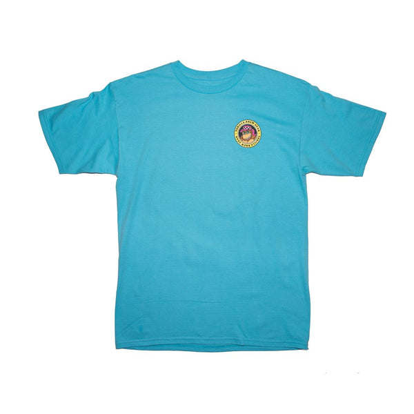 Thrilla Krew - Gorilla Checker Shaka tee shirt - Pacific Blue