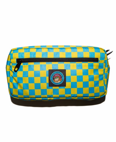 THRILLA KREW - DOT LOGO HIP BAG TEAL CHECKER