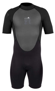 Body Glove - Men's Wetsuit - Pro 3 2/1 Back Zip - Springsuit - Large - Black- BGV-MSS-0019
