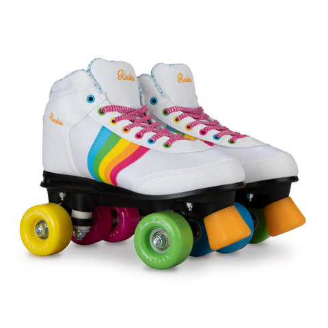 Rookie RollerSkate Forever Rainbow Adults - White
