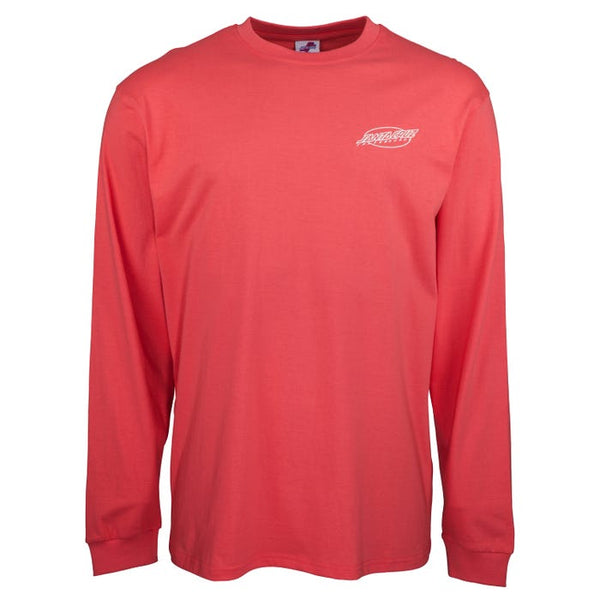 Santa Cruz Slasher Long sleeve T-Shirt - Washed Red - SCA-LTE-09
