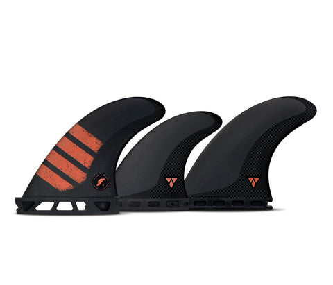 Futures - 5 FINS - F4 ALPHA - Carbon / Red