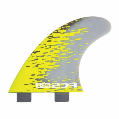 FCS II - PC-2 Tri fins / Thruster set Acid Smoke - PC02-142-00-R - Size XS