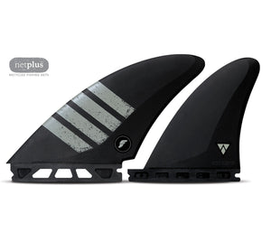Futures - Quad fins Controller Quad Alpha - Carbon / Grey