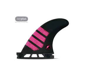 Futures - 3 FINS - F2 ALPHA - Carbon / Pink