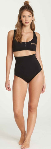 Billabong Women's High waisted vintage bottoms- Black - L41G03 - UK10